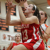 Masco sophomore guard Kate Kitsakos glides in for a layup against Ipswich on Thursday evening. The Tigers defeated the Chieftans 57-40 in league play. David Le/Staff Photo