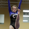 Beverly: Hamilton-Wenham senior gymnast Emily Ciroulo balances during her beam routine on Thursday evening in a quad meet with Beverly, Salem and Marblehead-Swampscott at the Sterling YMCA in Beverly. David Le/Salem News