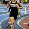 Boston: Beverly High School sophomore Maeve Monahan competes in the two mile at the NEC Indoor Track Championships at the Reggie Lewis Center in Boston. David Le/Salem News
