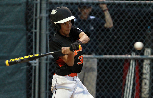 Beverly: Beverly's Ryan Barror connects for a solo home run in the bottom of the 3rd inning to extend Beverly's lead over Hamilton-Wenham to 4-2. David Le/Salem News