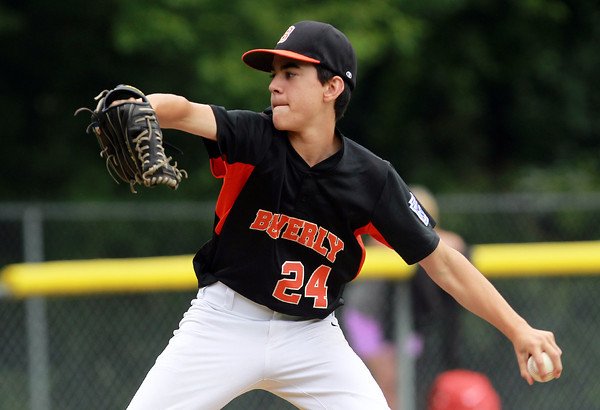 Beverly: Beverly starting pitcher Joe Ward fires a pitch against Hamilton-Wenham on Tuesday afternoon. David Le/Salem News