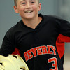 Lynn: Beverly relief pitcher Brayden Clark is all smiles on his way back to the dugout after scoring on a double from Kyle Camara in the top of the 8th inning. Clark lined a 2-out RBI double to drive home teammate Matt Collins with the eventual game winning run, as Beverly took down North Andover East 6-3 on Thursday evening. David Le/Salem News
