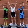 Beverly: Women's Elite top three finishers from left, Beverly native Crystal Anthony, Gabby Day, and Amy Miner. David Le/Salem News