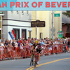 Beverly: Gabby Day, right, crosses the finish line of the Gran Prix of Beverly, just ahead of Beverly native Crystal Anthony, to win the Elite Women's race on Wednesday evening. David Le/Salem News