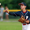 Nahant: Peabody West second baseman Josh Cerratani fires the ball to first to record an out against Lynnfield in the District 16 Championship game on Thursday evening. David Le/Salem News