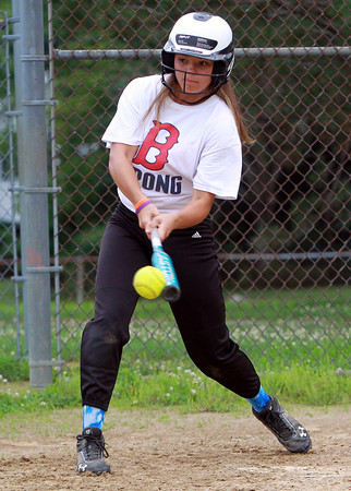 Peabody: Leadoff hitter Kaycie Groom will look to lead the 12-year-old Peabody West all-star team with her speed this weekend in the state tournament. David Le/Salem News