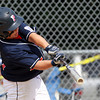 West Roxbury: Peabody West first baseman Dan Marshall (15) blasts a grand slam off the left field scoreboard, his first home run of the season, to break an 8-8 tie with Holden in the second game of the Massachusetts State Little League Tournament at Guy Cammarata Complex in West Roxbury on Saturday afternoon. David Le/Salem News