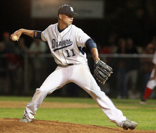 Danvers: Danvers junior Rafael Tylus came on in relief of starter Brandon Hyde and pitched the Falcons to a dramatic 7-6, come from behind win over Reading on Tuesday evening. David Le/Salem News