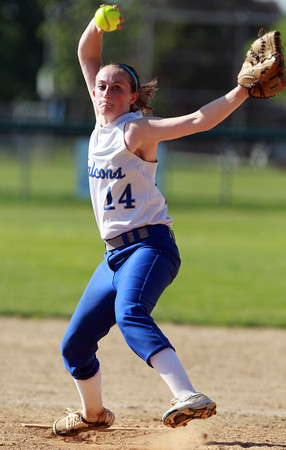 Danvers: Danvers junior starting pitcher Kendall Meehan fires a pitch against Tewksbury on Saturday afternoon in the D2 North Quarter Finals. David Le/Salem News
