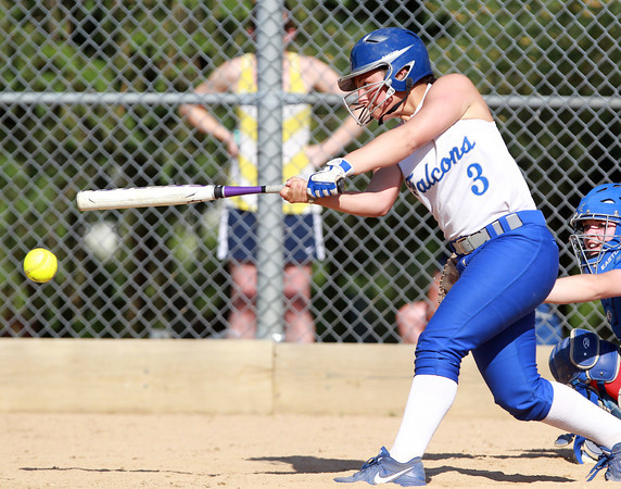Danvers: Danvers sophomore Tori Costa makes solid contact against Tewksbury on Saturday afternoon. David Le/Salem News
