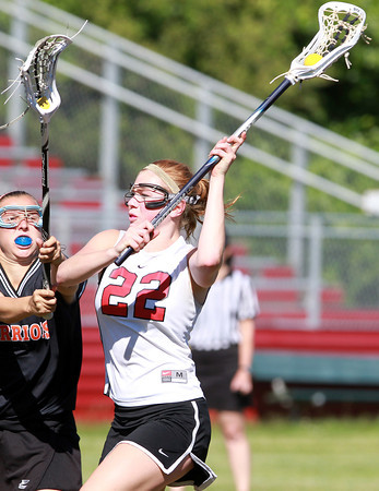 Marblehead: Marblehead senior midfielder Tyler Phillips takes a shot on net against Wayland on Tuesday afternoon. Phillips led the way for the Magicians as they defeated the Warriors 13-12 in a closely contested D2 North Semi Final. David Le/Salem News