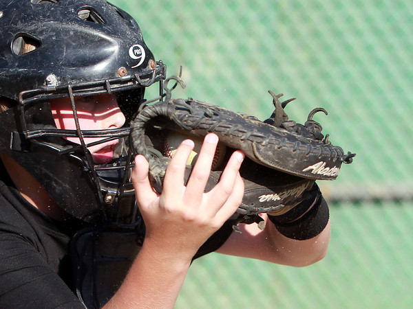 Peabody: Peabody's Chris Masta will handle most of the catching duties behind the plate for the **Peabody National** All-Stars this summer in the District 16 Tournament. David Le/Salem News
