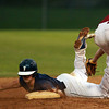 Danvers: Danvers senior center fielder Anthony Garron slides safely into second base on a steal attempt on Wednesday evening against Gloucester. David Le/Salem News