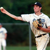 Danvers: Danvers second baseman Dan Connors fires the ball to first to throw out a Tewksbury runner on Friday evening. David Le/Salem News
