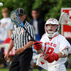 Topsfield: Masco Midfielder Harry Cwik (28) fires a pass to a teammate against Braintree on Tuesday afternoon. David Le/Salem News 5/28/13