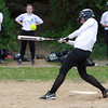 Salem: Salem Academy freshman Tara Deschenes lines a double to left against Prospect Hill on Wednesday afternoon. Deschenes pitched all six innings for the Navigators as they took home a 3-1 win. David Le/Salem News