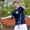 Danvers: Hamilton native and St. John's Prep senior Chris Toner is the No. 1 singles player for the Eagles and will continue his career next year at the University of Connecticut. David Le/Salem News