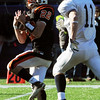 Beverly's Blake Sullivan gets the long throw far down field against Somerset during the Division 3 Super Bowl at Gillette Stadium on Saturday.<br /> Photo by Ken Yuszkus/Salem News, Saturday, December 4, 2010.