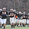 Beverly:  Beverly High School football team practices in preparation for Saturday's Super Bowl game.   photo by Mark Teiwes / Salem News