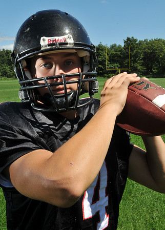 Marblehead: Marblehead High School tootball team starting quarterback Dan Colbert.  photo by Mark Teiwes / Salem News