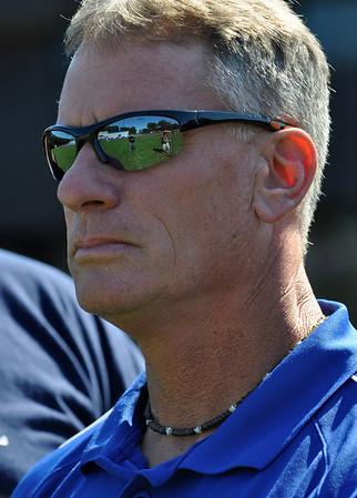 Peabody: Scott Wlasuk, head coach of the Peabody High School football team.  photo by Mark Teiwes / Salem News