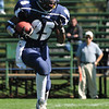 Swampscott: Swampscott High School football player Oliver Narcisse runs on a kick off return.