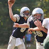 Hamilton: Generals quarterback Dylan Keith releases a pass during a game against Pentucket.  photo by Mark Teiwes / Salem News