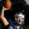 Swamscott High School varsity football quarterback Mike Walsh.  photo by Mark Teiwes / Salem News