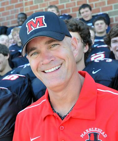 Marblehead: Marblehead High School tootball team head coach: Jim Rudloff.  photo by Mark Teiwes / Salem News