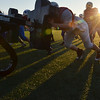 Danvers; St. John's Prep football team practices in preparation for Saturday's Superbowl: Linemen   photo by Mark Teiwes / Salem News