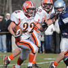 Hamilton:<br /> Ipswich's Kenny Wing scrambles through a hole at the Ipswich at Hamilton-Wenham game.<br /> Photo by Ken Yuszkus/Salem News, Thursday, November 25, 2010.