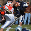 Hamilton:<br /> Hamilton-Wenham's Dylan Keith gets good blocking as he gets ready to throw to a receiver during the Ipswich at Hamilton-Wenham game.<br /> Photo by Ken Yuszkus/Salem News, Thursday, November 25, 2010.