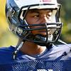 Swamscott: One Swampscott High School football key defensive player is Jermaine Kelly.  photo by Mark Teiwes / Salem News