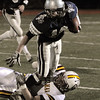 Reading:<br /> Hamilton-Wenham's Trevor Lyons runs the ball at the Hamilton-Wenham vs Cardinal Spellman state football playoff semi-final Division 3A game at Reading High School field.<br /> Photo by Ken Yuszkus/Salem News, Tuesday November 30, 2010.