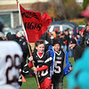 Swampscott: Team spirit was out strong for Thanksgiving day football.  photo by Mark Teiwes / Salem News
