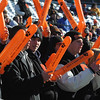 Beverly fans cheer on their team during the Division 3 Super Bowl at Gillette Stadium on Saturday.<br /> Photo by Ken Yuszkus/Salem News, Saturday, December 4, 2010.