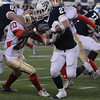 Foxboro:<br /> St. John's Prep's Tyler Coppola makes headway at the St. John's Prep vs Everett High School in the Division 1 Super Bowl football game at Gillette Stadium on Saturday.<br /> Photo by Ken Yuszkus/Salem News, Saturday, December 4, 2010.
