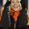 Beverly junior Alli McDonald cheers on the Panthers during the second half of the Eastern Mass D2A semi-final on Tuesday night. David Le/Staff Photo