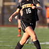 Beverly sophomore midfielder Eva Gourdeau performs a crossover step while trying to beat a Central Catholic defender in the first half of play on Sunday afternoon. The Panthers defeated the Raiders 4-1 on PK's to capture the D1 North Title. David Le/Staff Photo