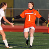 Beverly senior captain Diandra Crowley, left, runs to greet junior goalkeeper Casey Cook, right, after the Panthers scored a 2-0 win over Concord-Carlisle in the D1 North Quarterfinal on Tuesday afternoon. David Le/Staff Photo