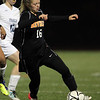 Beverly sophomore Eva Goudreau turns upfield against Franklin on Wednesday night. David Le/Staff Photo