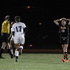 Beverly senior Kristen O'Connor places her hands on her head in frusteration and disbelief after Franklin scored their second goal of the game, handing the Panthers a 2-0 loss in the D1 State Semi-Final on Wednesday evening. David Le/Staff Photo