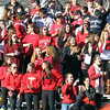 Marblehead fans cheer on the Magicians following a touchdown pass from senior Ian Maag to junior Dylan Cressy. David Le/Staff Photo
