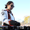 Beverly High School senior Dani Zessoules, plays the xylophone during the BHS Band's halftime show on Saturday afternoon. David Le/Staff Photo