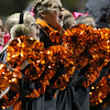 Beverly High School sophomore Kelly Pierce cheers on the Panthers during Beverly's 30-14 victory over Masconomet on Friday evening. David Le/Staff Photo