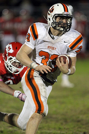 Beverly senior running back Brendan Flaherty breaks off a long run against Masco on Friday evening. Flaherty rushed for 234 yards and two touchdowns to lead the Panthers to a 30-14 victory over the Chieftans. David Le/Staff Photo