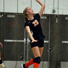 Beverly junior Bridget Keaton serves the ball against Salem on Friday afternoon. David Le/Staff Photo