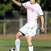 Salem High School's Mitchell Osgod controls the ball against Marblehead on Friday afternoon. David Le/Staff Photo
