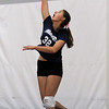 Swampscott sophomore Gina Asipenko serves against Saugus on Friday afternoon. David Le/Staff Photo