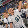 Foxborough:  Captain Brandon Parker lets out a victory scream after defeating Rivers. photo by Mark Teiwes / Salem News